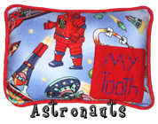 Astronaut Tooth Fairy Pillow with Pocket for Boys