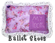 Ballet Tooth Fairy Pillow with Pocket for Girls