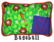 Baseball Tooth Fairy Pillow with Pocket for Boys