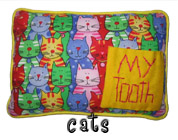 Cats Tooth Fairy Pillow with Pocket for Girls