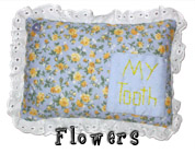 Flowers Tooth Fairy Pillow with Pocket for Girls