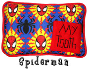 Spiderman Tooth Fairy Pillow with Pocket for Boys