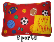 Sports Tooth Fairy Pillow with Pocket for Boys