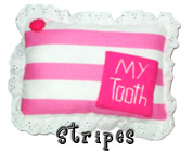 Stripes Tooth Fairy Pillow with Pocket for Girls
