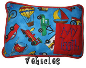 Vehicles Tooth Fairy Pillow with Pocket for Boys